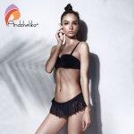 Andzhelika Bikini Women 2018 New Push Up Swimwear Sexy Low Waist Mesh Bikinis Set Three Kinds Of Wear Law Swimsuit Bathing Suits