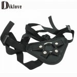 Diklove, Diklove Strap On Dildo Adjustable Penis Strapon Corset Style Harness Detachable Stainless steel Ring Lesbian Sex Toy Sex Product