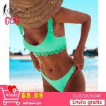 Miyouj Sexy Lace Bikinis 2018 Mujer Newest Swimwear Women Swimsuit Push Up Biquinis Feminino Bathing Suit Brazilian Bikini Set