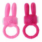 2 Colors Silicone Rabbit Vibrating Penis Clit Stimulator Vibrator for Couples 3.5x8cm