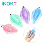 Ikoky, IKOKY Finger Vibrator Clitoris Stimulator Breast Massage Leaf Shape Sex Toys for Women Female Masturbator Faloimitator Sex Shop
