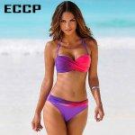 ECCP New 2018 Bikinis Women Swimsuit Female Swimwear Retro Sexy Summer Bikini Set Beach Swim Wear Summer Bathing Suits Biquini