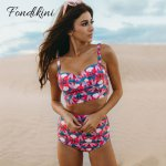 Sexy High Waist Bikini Set 2019 Women Swimwear Push Up Swimsuit Female Leaf Print Bathing Suit Vintage Swim Beachwear Biquinis