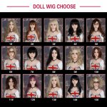 WMDOLL  Wig for sex doll, hair for  silicone real doll  fit for 100cm -165cm WMDOLL  love doll