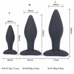 90/122/139CM Sexy Black Silicone Anal Plug Massage Adult Sex Toys For Women Man Gay Anal But Plug Set Butt Plugs Sex Products