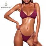 Adriana Arango Swimwear for women Solid Push Up Swimsuit Sexy Brazillian Thong Bikini Summer Beachwear Bathing Suit Biquini
