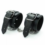 DOMI PU Leather Handcuffs Bdsm Bondage Love Games Adult Sex Toys For Couples