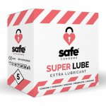 Safe, Prezerwatywy mocno nawilżane - Safe Super Lube Condoms Extra Lubricant  5szt