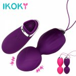Ikoky, IKOKY G Spot Vibrator Remote Control Kegel Ball Vaginal Exercise Trainers Sex Toys for Women Adult Products Erotic Toys