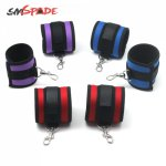 SMSPADE  Three Color Neoprene Bondage Boutique Soft Handcuffs For Couples Adult Games Sex Toys Restraint Cosplay Tool