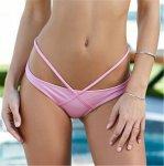S-XL Sexy Tiny Brazilian Bikini Bottom Female Swimwear Women G-string Briefs Micro Mini Thong Panties Underwear Tanga