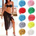 1PCS Colorful Cotton Sexy Beach Cover Up Women's Sarong Summer Bikini Cover-ups Wrap Pareo Beach Dress Skirts Towel