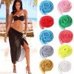 2018 New Sexy Beach Cover Up women sarong summer bikini cover-ups wrap pareo beach dress skirts towel