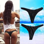 Hot Sale Women Sexy Bikini Bottom Swimwear Beach Bathing T-Back Thong G-string Black Bathing Swimming Beach Swimwear Trunks
