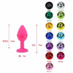 Silicone Anal Plug with Jewelry for Woman Men Gay  Lesbian Anal Plug Toy for Masturbator with Anal Beads Dildo No Vibrator