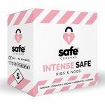 Safe, Prezerwatywy stymulujące - Safe Intense Safe Condoms Rib-Nop 5szt