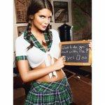 Baci Lingerie, Erotyczny kostium uczennicy Baci Boarding School Schoolgirl Set One Size