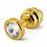 Korek analny z kryształem Diogol Ano Butt Plug 30 mm - Złoty, żółty