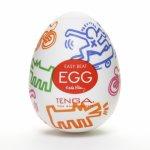 Tenga, Japoński masturbator - Tenga Keith Haring Egg Street 1szt