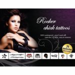 Adultbodyart, Seksowne tatuaże zmywalne Tattoo Set - Rocker Chick