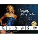 Adultbodyart, Seksowne tatuaże zmywalne Tattoo Set - Naughty Pin-Up