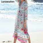 Beach Dress Kaftan Pareo Sarongs Sexy Cover-Up Chiffon Bikini Swimwear Tunic Swimsuit Bathing Suit Cover Ups Robe De Plage#Z166