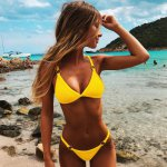 Sexy Bikini Solid Push Up Bikini Set 2019 Women's Sexy Adjust Swimsuit Solid Halter Top Bathing Suit Micro Brazilian Biquini S-L