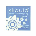 Sliquid, Smakowy środek nawilżający - Sliquid Naturals Swirl Lubricant 5 ml Niebieska Malina SASZETKA