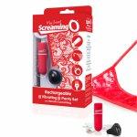 Screaming O, Wibrujące majteczki ze stymulatorem - The Screaming O Charged Remote Control Panty Vibe  Czerwony