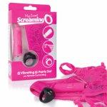 Screaming O, Stymulujące majteczki damskie zdalnie sterowane - The Screaming O Remote Control Panty Różowy