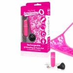 Screaming O, Wibrujące majteczki ze stymulatorem - The Screaming O Charged Remote Control Panty Vibe  Różowy