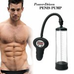 Electric Penis Pump Penis Enlargement Device Automatic Gauge Vacuum Pump Pro Extender Enhancer Male Sex Product For Men Erection