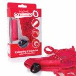 Screaming O, Stymulujące majteczki damskie zdalnie sterowane - The Screaming O Remote Control Panty Czerwony