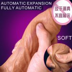 Super Soft Silicone Stretching Dildo Realistic Suction Cup Dildo Male Artificial Penis Dick Adult Sex Toys For Women Masturbator