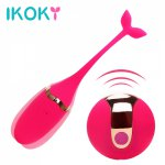 Ikoky, IKOKY Vibrator Kegel Ball Vibrating Egg Wireless Remote Control Sex Toys for Women Exercise Vaginal Multispeed USB Rechargeable