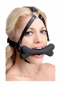 XR Brands Master Series - KNEBEL do ust psia kość PASKI na głowę