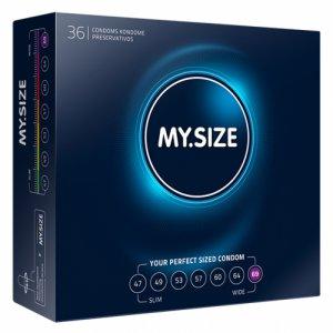 Dopasowane prezerwatywy - My Size Natural Latex Condom 69mm 36szt