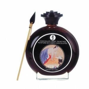 Shunga Bodypainting - Farba jadalna do malowania po ciele czekolada