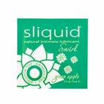Sliquid, Smakowy środek nawilżający - Sliquid Naturals Swirl Lubricant 5 ml Zielone Jabłko SASZETKA