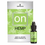 Sensuva, Olejek stymulujący z konopiami - Sensuva On for Her Hemp Oil Infused Arousal Oil 5 ml