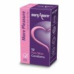 More Amore, Prezerwatywy prążkowane - MoreAmore Condom Fun Skin 12 szt