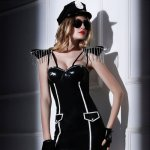 Sexy cosplay costumes lingerie Sexy lingerie black police woman uniforms game sexy set