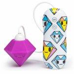 Tokidoki, Symulator łechtaczki kolorowy - Tokidoki Silicone Purple Diamond Clitoral Vibrator