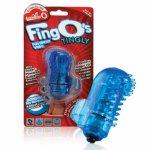Wibrator na palec - The Screaming O The FingO Nubby  niebieski