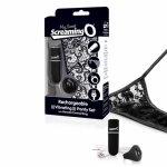 Screaming O, Wibrujące majteczki ze stymulatorem - The Screaming O Charged Remote Control Panty Vibe  Czarny