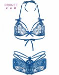 IDARMEE S6574 Lace Sexy Open Bra Design Erotic Lingerie for Fashion Women Hollow Out Plus Size Bra Panty Sets