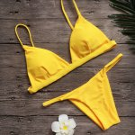 Vertvie Women Sexy Brazilian Solid Top Thong Bikini Set Solid Strapless Summer Beach Swimming Suits Maillot De Bain Monokini