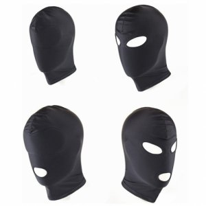 camaTech 4 Style Stretchy Breathable Sponge Fetish Mask Sexy Toys Open Mouth Eye Head Bondage Hood BDSM Cosplay Slave Headgear