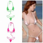 KLV Women Sexy Micro Mini Bikini Thong Underwear G-String Bra Swimwear Sleepwear New High Quality