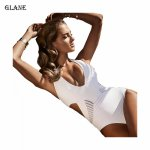 One Piece Monokini Sexy Bikinis Set 2017 Swimwear Women Padded Push Up Bikini Bandage Swimsuit Bathing Suit
